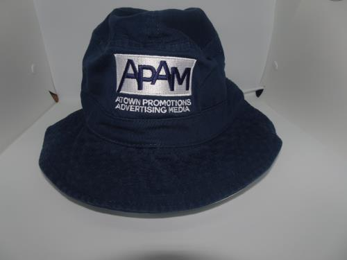 APAM BUCKET HAT NAVY BLUE/WHITE ,  Size: SMALL/MEDIUM
