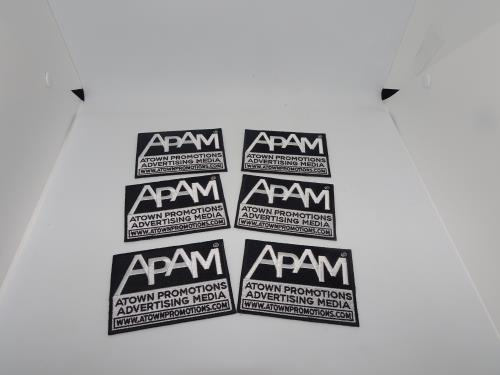 APAM WEBSITE CUSTOM EMBROIDED HEAT SEALED PATCH